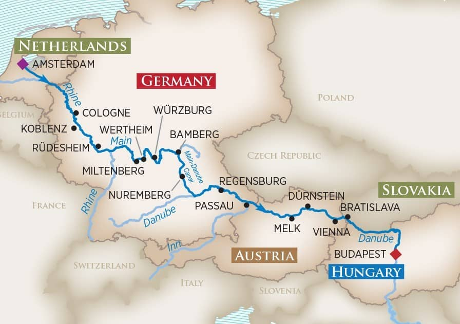 Magnificent Europe Cruise from Amsterdam to Budapest
