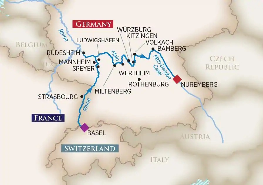 German River Cruise Basel to Nuremberg