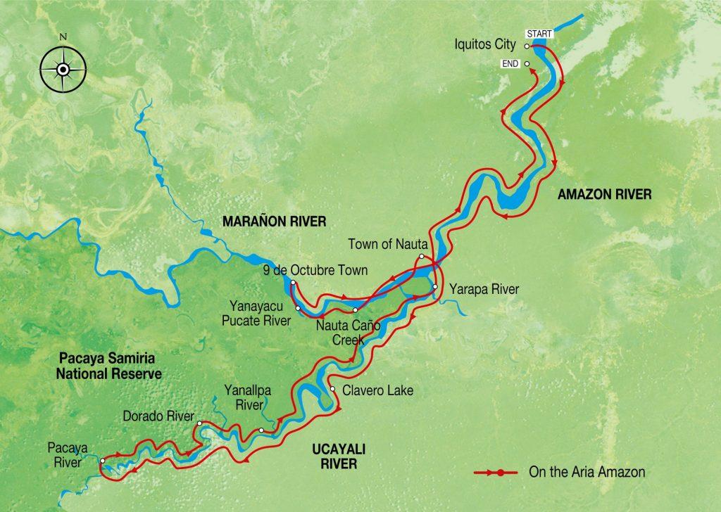 Best Amazon River Cruise Aria Amazon 7 Nights - High Water