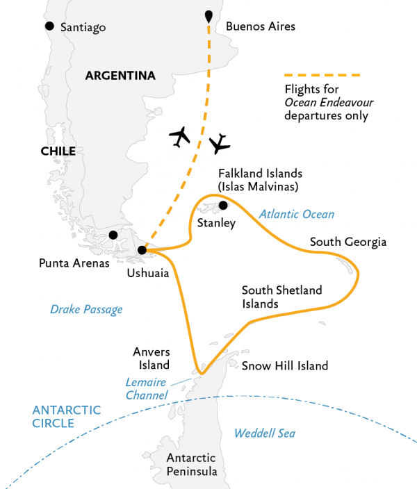 Falklands, South Georgia, and Antarctica Cruise
