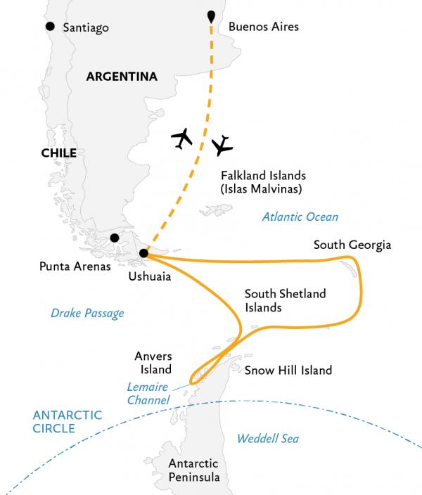 Antarctic Cruise from Ushuaia -South Georgia and Antarctic Peninsula: Penguin Safari