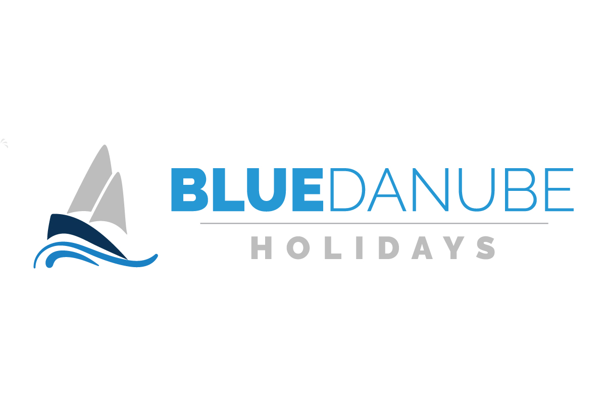 Blue Danube Holidays Logo - White 2018 11 29