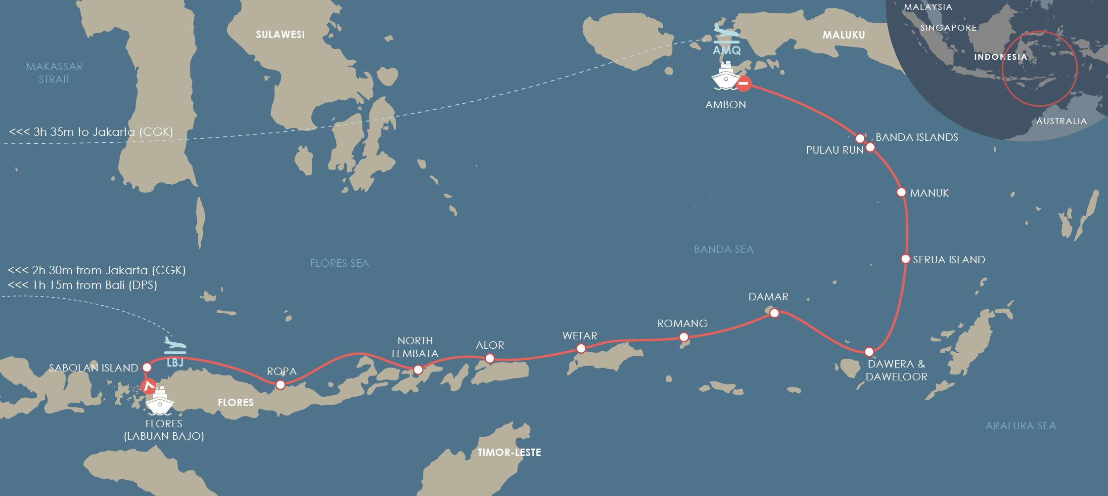 Flores to Spice islands - Flores Cruise