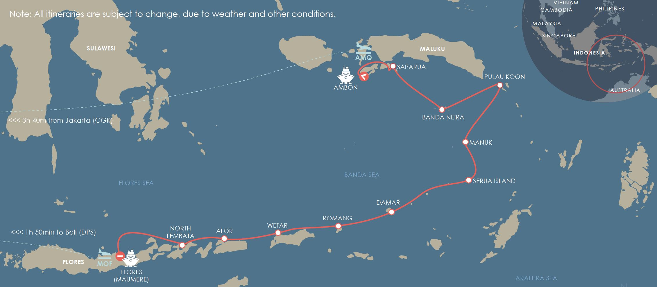 Spice Islands to Flores - Cruise to Indonesia