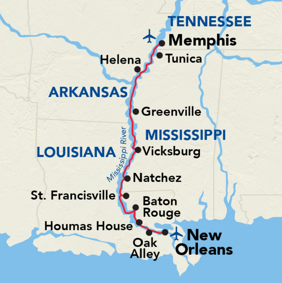 Memphis to New Orleans Cruise