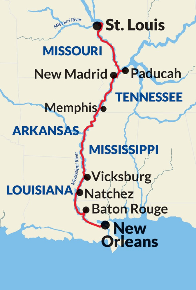 New Orleans to St. Louis Cruise – Mississippi River Gateway