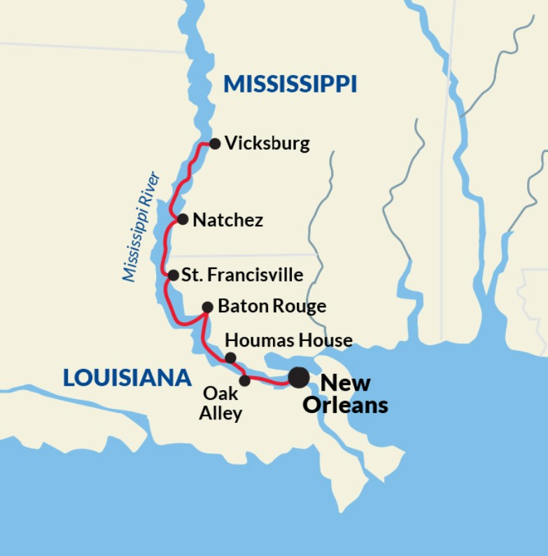 New Orleans to Vicksburg Cruise - New Orleans - New Orleans