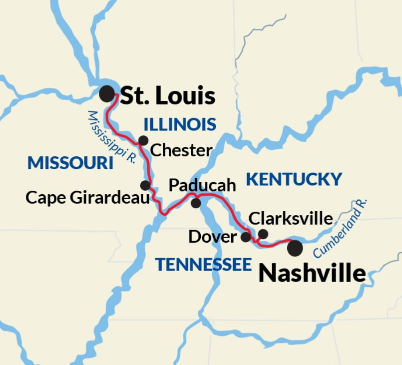 Nashville to St. Louis Cruise - Cumberland River