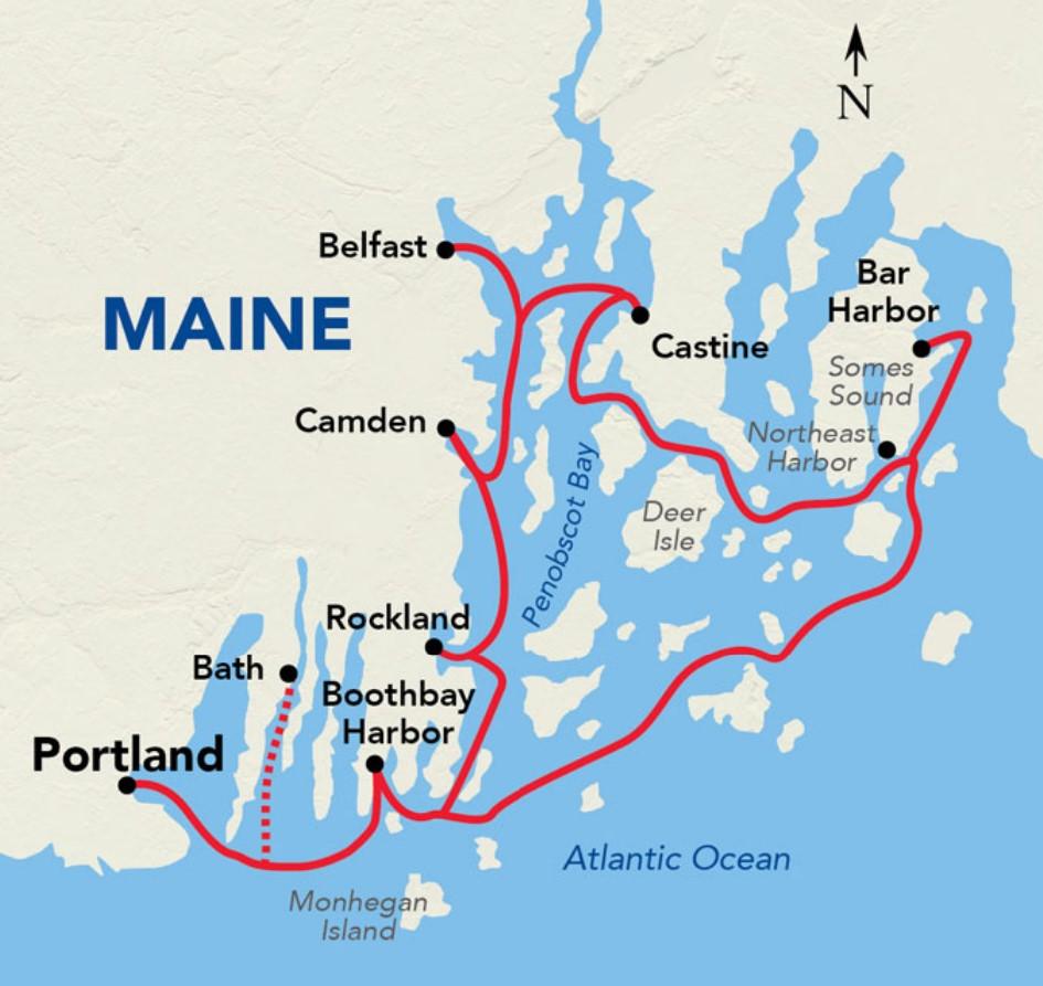 Maine Coast Cruise - Bar Harbor, Camden and Boothbay