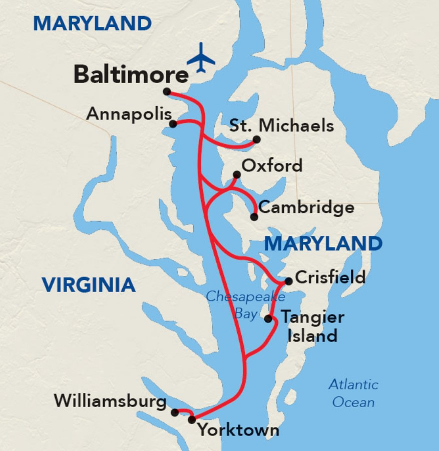 Chesapeake Bay Cruise - Historic Triangle and Maryland